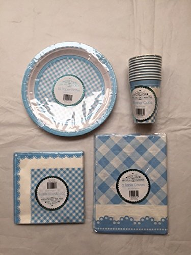 Nuove occasioni speciali Baby Shower Partito buffet accessori Set Blu