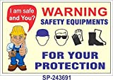 SignageShop SP-243691 warning safety equipment are only for your safety Poster