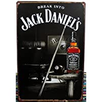 Vintage Style si rompe in Jack Daniel's Retro-Decorazione da parete a placca metallica 30 x 20 cm