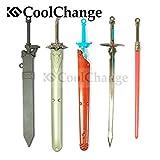 CoolChange Sword Art Online Model Schwerter Set, als Deko oder Anhänger mit 5 Schwert Modellen und 3 Schwertscheiden, Set SAO