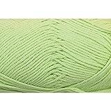 Wolle 50g Pastellgrün 100% Baumwolle Handstrickgarn Strickwolle Stricken Häkeln Cotton Fun Gründl