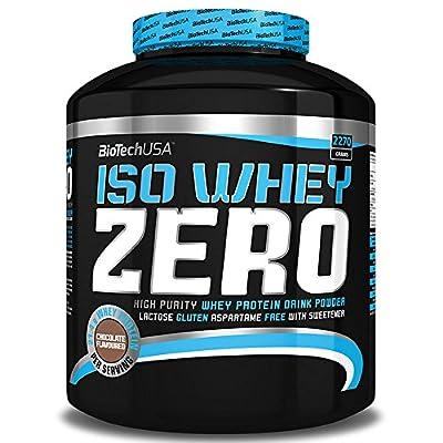 BioTech USA ISO Whey Zero 2.27kg,Maximum Purity Whey Protein Powder with Zero Lactose,Gluten Free, No Added Sugar by BioTech USA