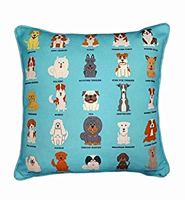 BRITISH ROYAL DOG Breeds Original Design UK Handmade Cushion Cover, Home Decoration Cushion, Children's Cushion, Bedroom Fun Cushion, Stylish Sofa Cushion, Gift for Dog Owner, Adorable Birthday Gift