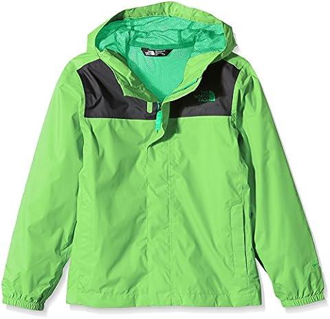 The North Face Jungen Jacke B Zipline Rain Jacket, Electric Mint Green, XL, 0732075456382