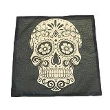 Vintage Skull Leinen Baumwolle werfen Kissenbezug Sofa Bett Haus Dekor Kissenhülle Stilvolle