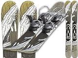 GPO Snowblade 'EARTH' | Kurz-Ski inkl. GC-201-Bindung | 99 cm Länge Big-foot-Ski für Herren und Damen