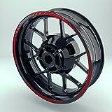 OneWheel Felgenband für Motorrad Rot | 17 Zoll | Komplett Set für Vorder- und Hinterreifen |...