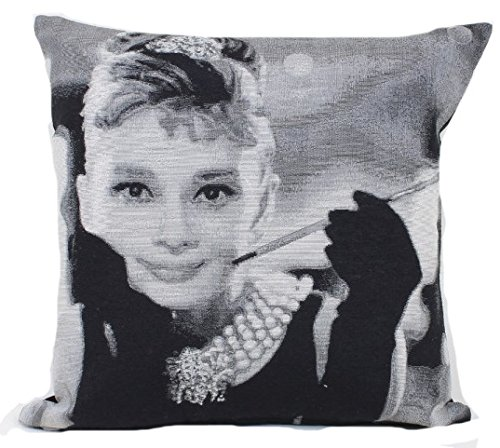emma-barclay-tapestry-audery-hepburn-black-grey-cream-glitter-look-cushion-cover-17-x-17-43cm-x-43cm
