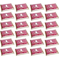 HomeStrap 24 Piece Fabric Saree Cover, Large- Beige