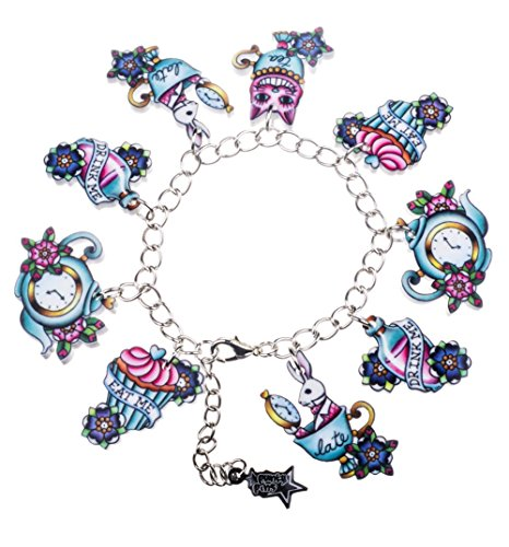 Alice In Wonderland Tattoo Charm Bracelet from Punky Pins