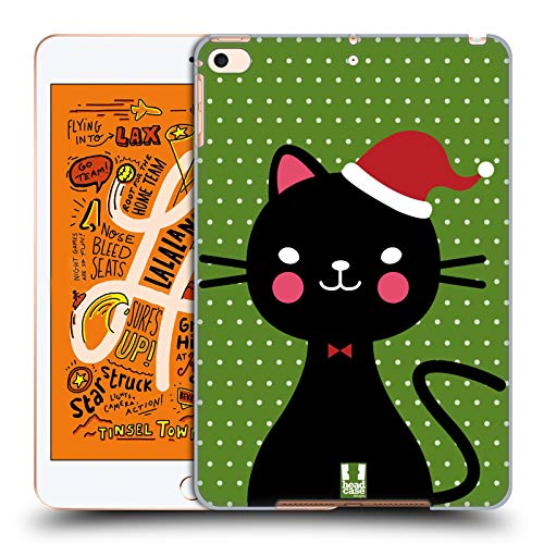 Head Case Designs Weihnachtsmann Grün Weihnachtskatze Harte Rueckseiten Huelle kompatibel mit iPad Mini (2019)