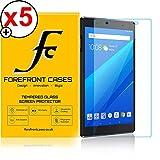 Forefront Cases Lenovo Tab 4 8 Plus/Lenovo Tab4 8 Plus [HD KLARHEIT] Gehärtetes Glas Panzerglas Folie Schutzfolie Screen Protector [Ultra DÜNN nur 0.3mm] (Packung mit 5)