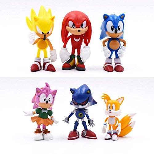 Sonic 6Figuren Spielzeug Tortenverzierung Tütenfüller KNUCKLED Tails - Tails Sonic-spielzeug