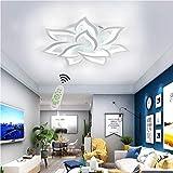 LED Deckenleuchte Wohnzimmerlampe Dimmbar Deckenlampe Kreative Chic mit Fernbedienung Designer Lampe Modern Stil Decken Leuchte Eisen Acryl Schirm Hängeleuchte Esszimmer Küche Deko Licht (10-flammig)