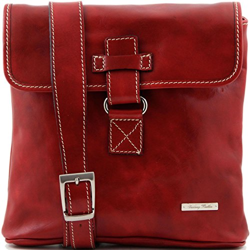 Tuscany Leather Andrea Borsello in pelle a tracolla Rosso Rosso