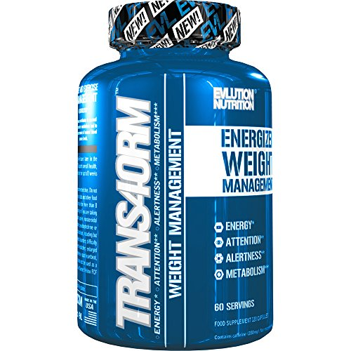 TRANS4ORM Brucia Grassi Termogenico Evlution Nutrition | Integratore Pillole Dimagranti Riduci Appetito Con Caffeina Naturale Energizzante Per Perdere Peso Scolpire Muscoli | 60 Dosaggi