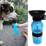 SROVFIDY tragbare Wasserflasche Hund Reisen, Essen