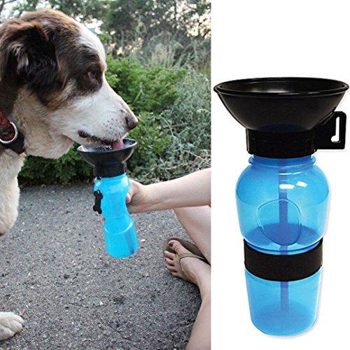Rethinkso botella de agua portátil de viaje perro, comida