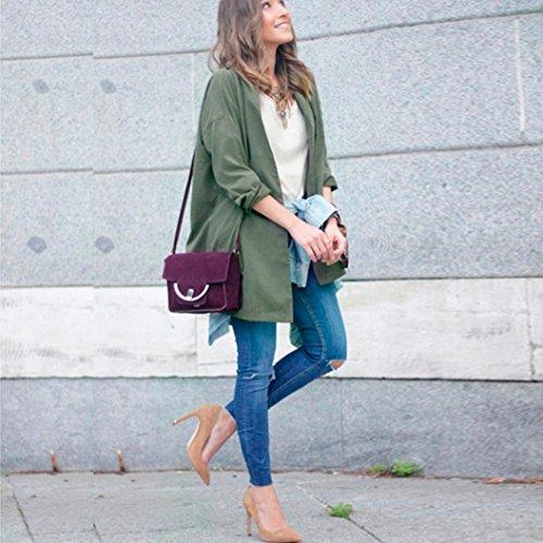 Zolimx Mode Frauen Dünne Jacke Windbreaker Outwear Wolljacke Mantel - 3