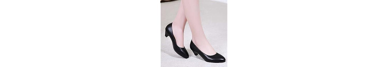 GAOLIM El Final del Verano Negro Calzados Suaves, Las Mujeres Trabajan con Antideslizante Luz Profesional Zapatos... -
