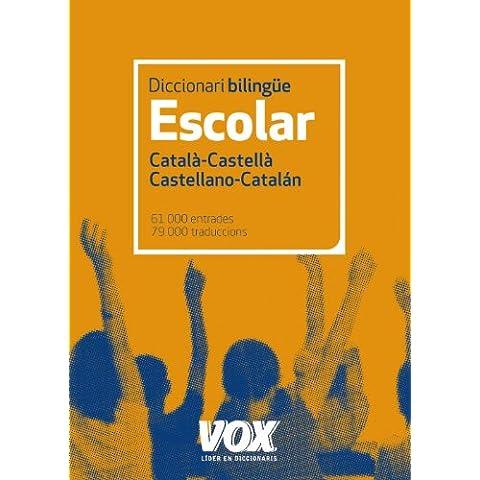 Diccionari Escolar Català-Castellà. Castellano-Catalán (Vox - Lengua Catalana - Diccionarios