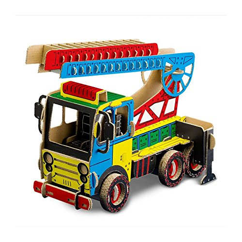 Modellino Camion Pompieri in cartone TODO Fire Truck
