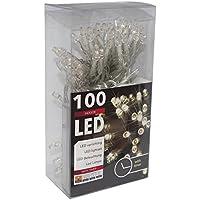 100ER catena di luci led a batteria bianco caldo +