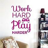 Adesivo gioco Decorazione Adesivo murale Vinile Arte Gaming Quote Videogiochi Adesivi sala giochi Adesivi murali per soggiorno H 58 * 82cm