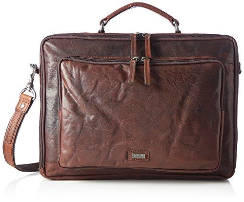 Spikes & Sparrow Unisex-Erwachsene Business Bag Laptop Tasche, Braun (Dark Brown), 6x28x39 cm