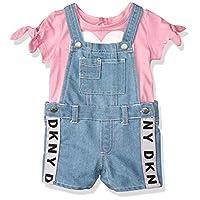 طقم قميص وسروال قصير محاك من دي كيه ان واي 5496 Fuchsia Pink 12 شهر
