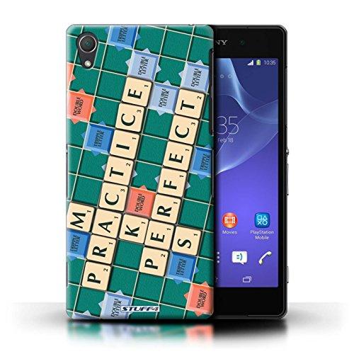 Kobalt® Imprimé Etui / Coque pour Sony Xperia Z2 / Pratique Parfaite conception / Série Mots de Scrabble Pratique Parfaite