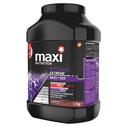 MaxiNutrition Progain Extreme Mass and Size Protein Shake Powder, Chocolate, 1.5 kg