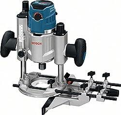 Bosch Professional GOF 1600 CE Oberfräse, 8/12 mm Spannzange, Absaugadapter, Parallelanschlag, Spannzangen, Zentrierstift, 1.600 W, L-Boxx