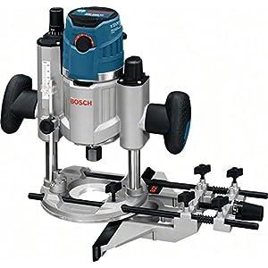 Bosch Professional GOF 1600 CE – Fresadora de superficie (1600 W, 10000 – 25000 rpm, 8/12,7 mm, vel. constante, ajuste fino de 0,1 mm, en caja)