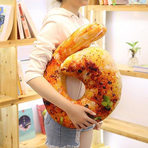 ZYYJG Ornamente Kreative Simulation Snack Kissen Lebensmittel 3D Puppe Test Shrimp