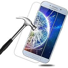 Samsung Galaxy A5 2017 Protector de Pantalla,BIGMEDA Vidrio Templado Cobertura Completa Anti-Scratch Reutilizable Cristal Película Protectora para Samsung Galaxy A5 2017