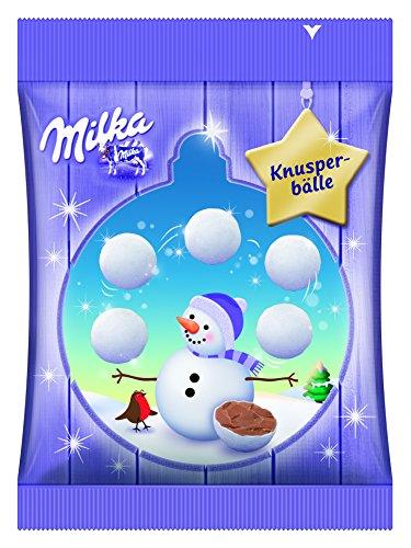 Preisvergleich Produktbild Milka Snow Bites,  Dragée-Kugeln,  Alpenmilch Schokolade,  12er Pack (12 x 100 g)