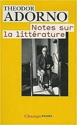 Notes sur la littérature