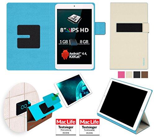 reboon Allview Viva Q8 Pro Hülle Tasche Cover Case Bumper | Beige | Testsieger