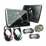XTRONS® 2x 10.1 Inch HD Digital Screen Twins Car Headrest DVD Player Ultra-thin
