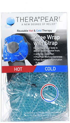 Therapearl - Bolsa de gel para aplicar frío y calor - Con correa para la rodilla - Microesferas