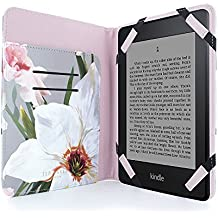 Official Ted Baker Highly Protective Premium Quality Folio case for Amazon Kindle Paperwhite - Chatsworth Bloom (Mid Grey)