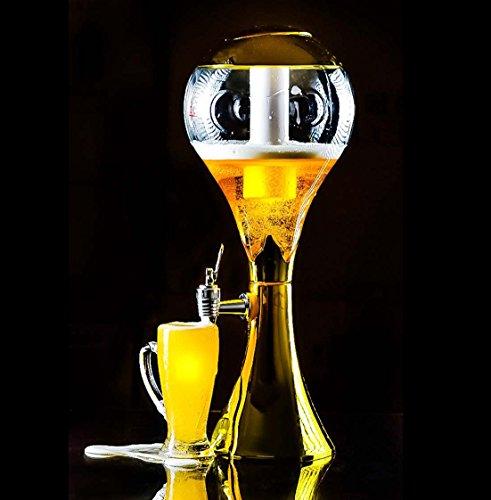 Trophée doré clair 3litre à bière Tour Distributeur pour Sports-bars