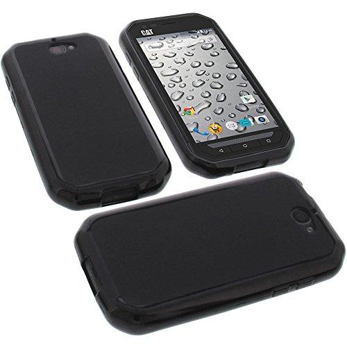 foto-kontor Tasche für CAT S30 Gummi TPU Schutz Handytasche schwarz