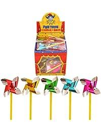 Henbrandt Mini-Windrad aus Folie, verschiedene Farben, 60 Stück