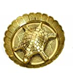Sajani Brass Metal Tortoise on Metal Plate for Good Luck Feng Shui Gift Item for Vaastu Home Décor