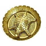 Sajani Brass Metal Tortoise On Metal Plate For Good Luck Feng Shui Gift Item For Vaastu Home Décor