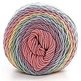 Ouken 1X (#18) Naturel Doux Soie Lait Fils de Coton épais Fils à Tricoter Laine à Tricoter Amant Echarpes Crochet Fil Weave Fil Bricolage Pull