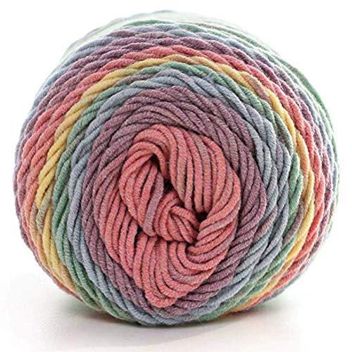 Ouken Suave Natural Seda Leche Hilo algodón Grueso