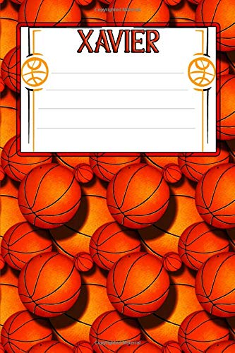 Basketball Life Xavier: College Ruled | Composition Book Xavier Basketball